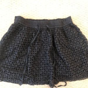 Madewell Black Mini Skirt